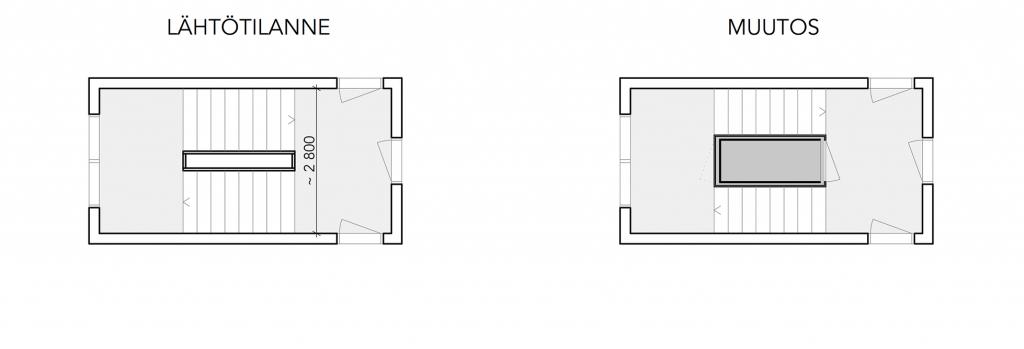 Pohjakuva, ratkaisu 4 - ennen ja jälkeen